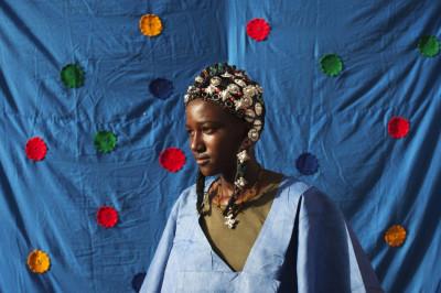 Madinatou Soumailou Toure in Traditional Songhai Headdress Source - ReutersJoe Penney