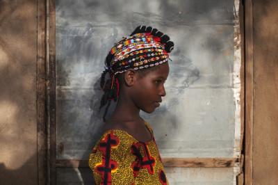 Safiatou Maiga in Traditional Songhai Headdress Source - ReutersJoe Penney