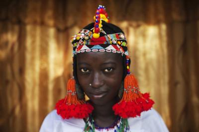 Balkissa Maiga in Traditional Songhai Headdress Source - ReutersJoe Penney
