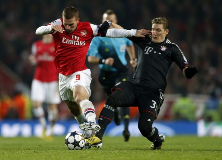 Lukas Podolski (L) and Bastian Schweinsteiger