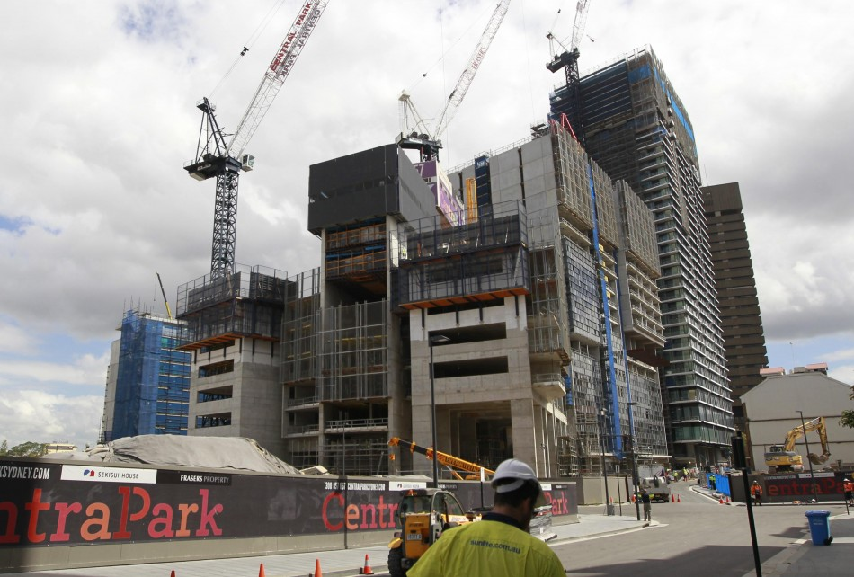 A construction site for new apartments is seen in central Sydney