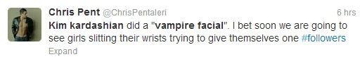 Kim Kardashian Vampire Facial Twitter Reactions