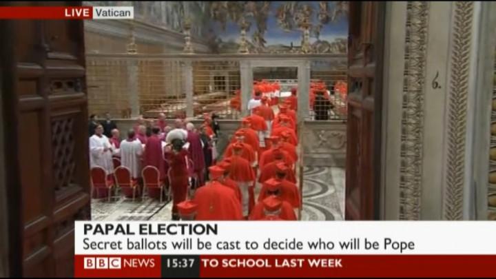 Cardinals enter Sistine Chapel