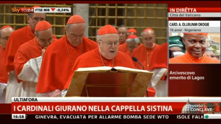 Cardinals taking the oath of secrecy
