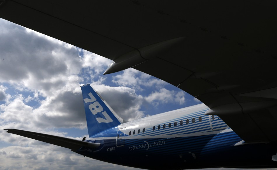 File photo of a 787 Dreamliner passenger jet in Manchester