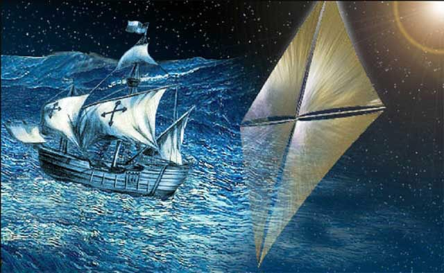NASA artist's impression of solar sail concept PIC: NASA