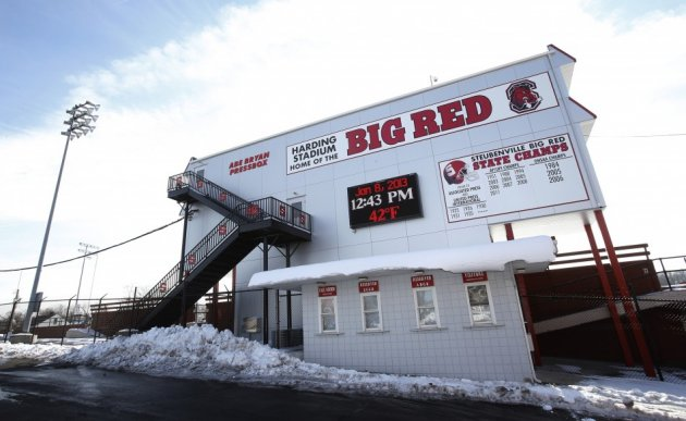 Harding Stadium, home of the Steubenville High Big Red football team sits in the middle of Steubenville, Ohio (Reuters)