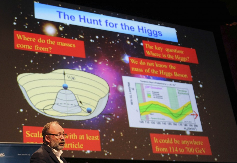 The announcement of the first glimpse of the Higgs Boson was given in July 2012 (Reuters)