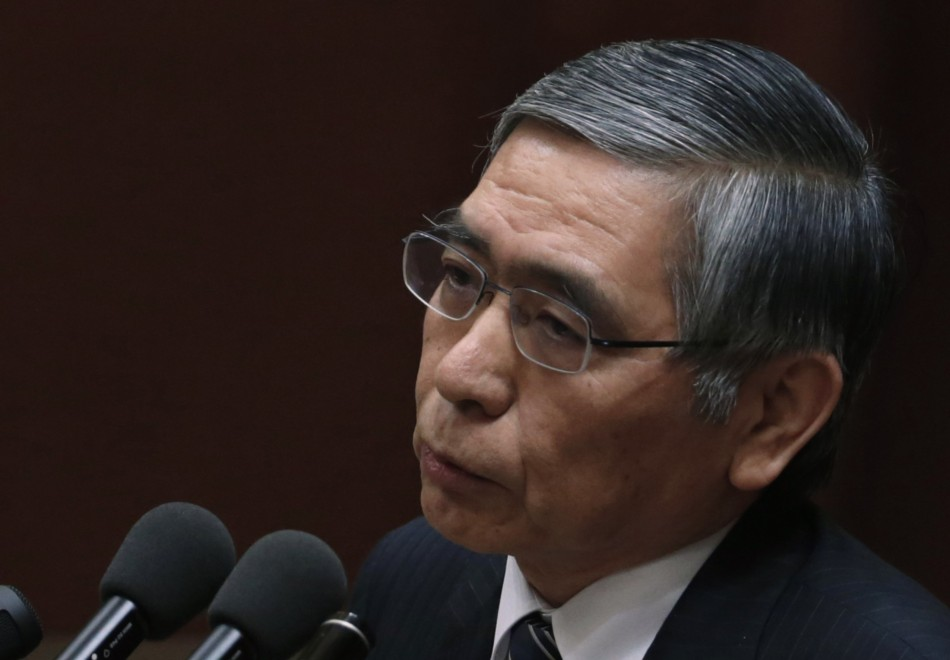 Bank of Japan's (BOJ) Governor Haruhiko Kuroda delivers a speech at a hearings session at the lower house of the parliament in Tokyo