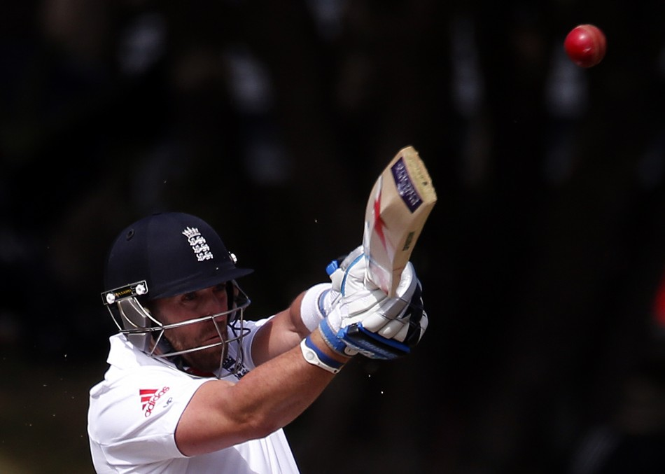 Matt Prior scored 82 on day two to help England reach 465