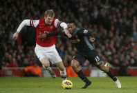 Per Mertesacker has struggled to adapt to the pace of the Premier League