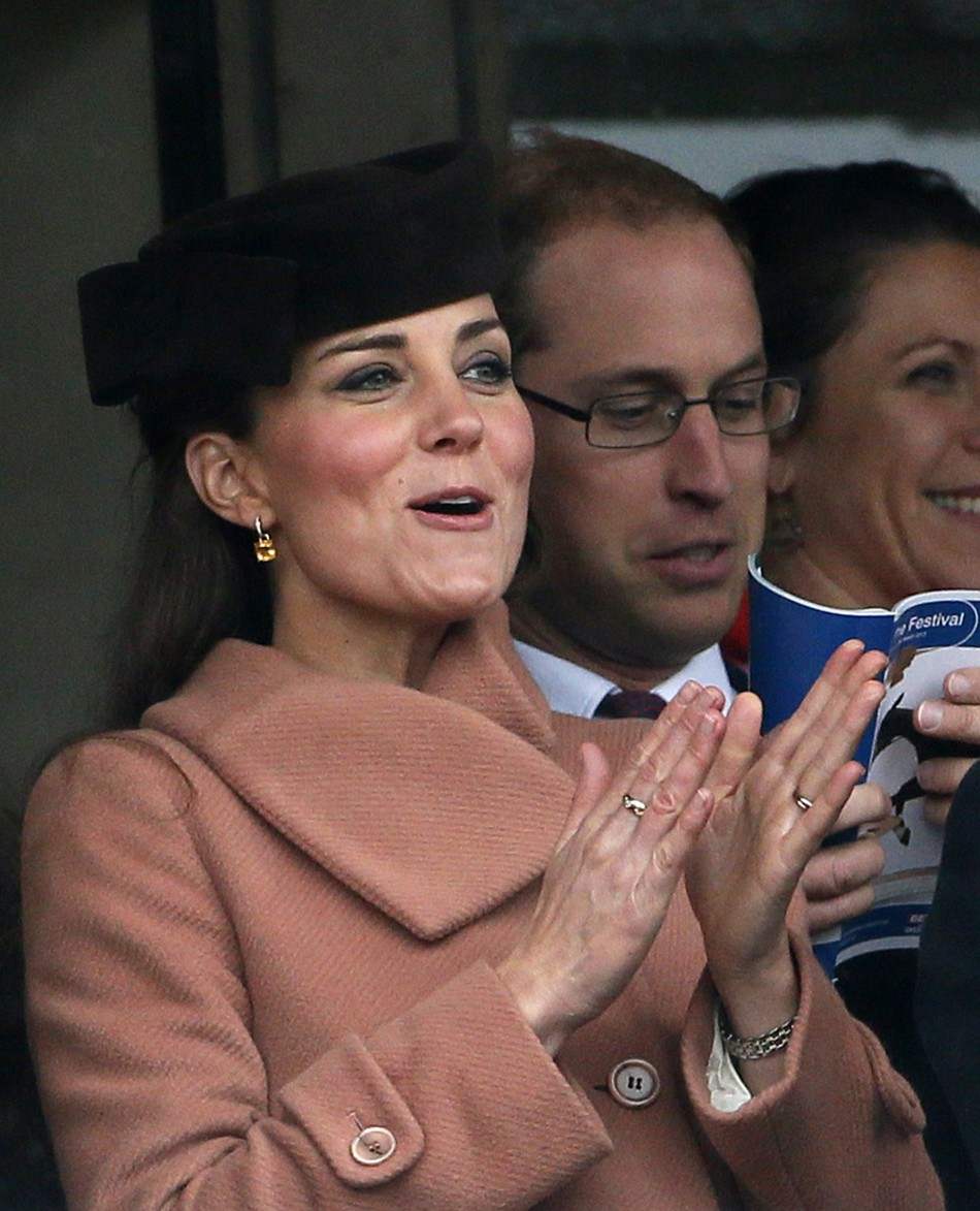 Kate Middleton appears at the final day of the Cheltenham Festival (Reuters)