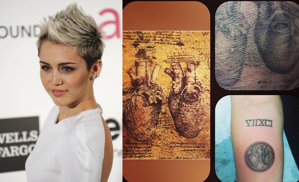 Miley Cyrus Flaunts Da Vinci Heart Tattoo And Explains Missing