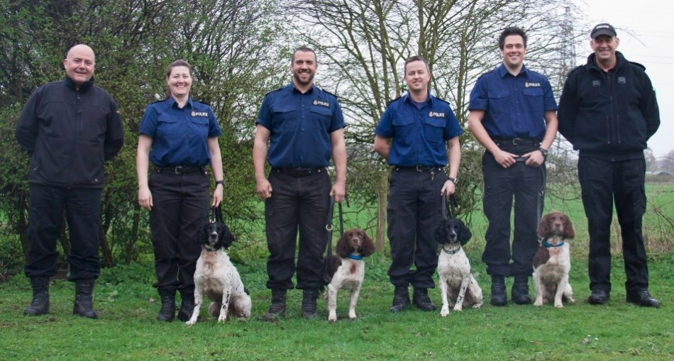 Police dogs and their handlers