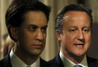 Miliband (l) and Cameron