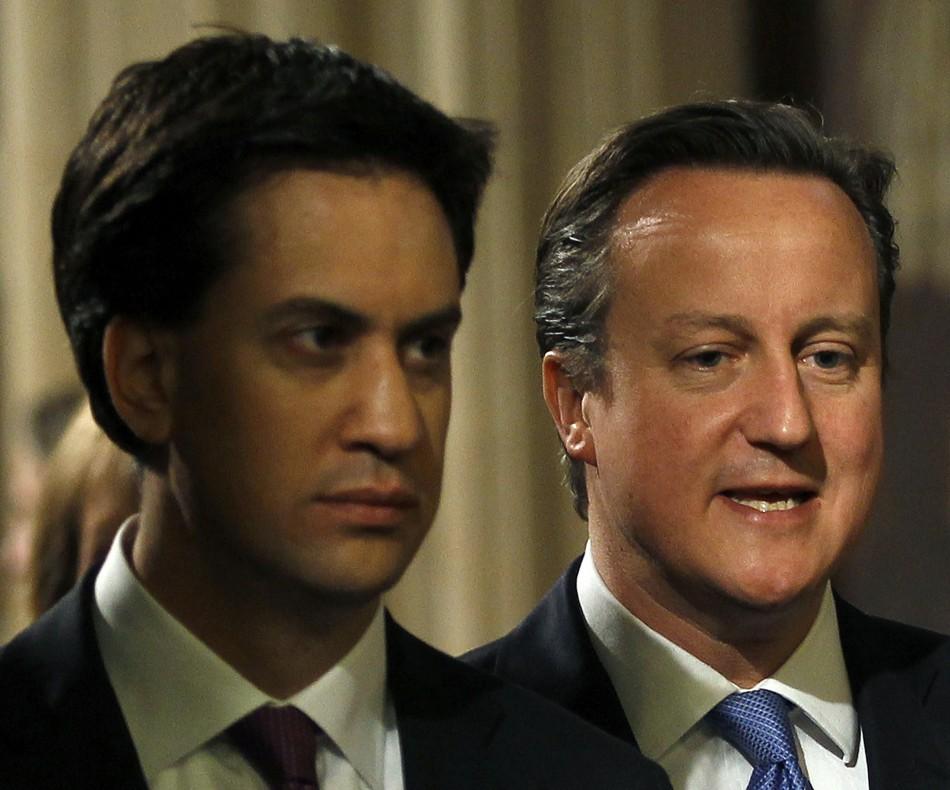 Ed Miliband (l) and David Cameron