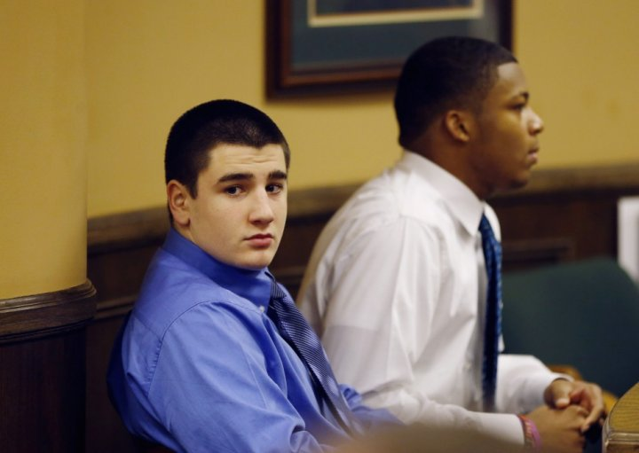 Trent Mays (L) and Ma'lik Richmond were found guilty of raping a 16-year-old girl (Reuters)
