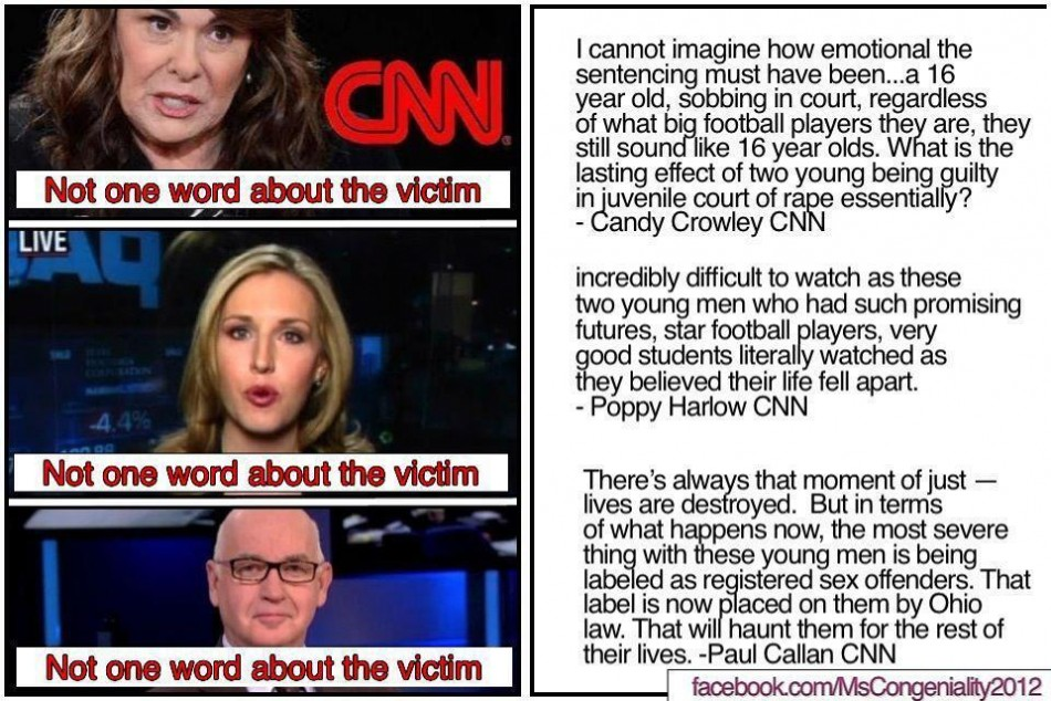CNN's coverage of the conviction was condemned by woman's right groups
