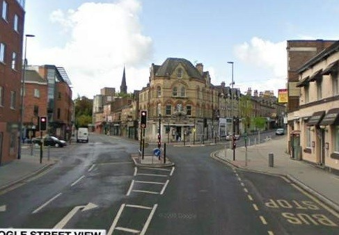 The attack took place in Railway Street, Manchester