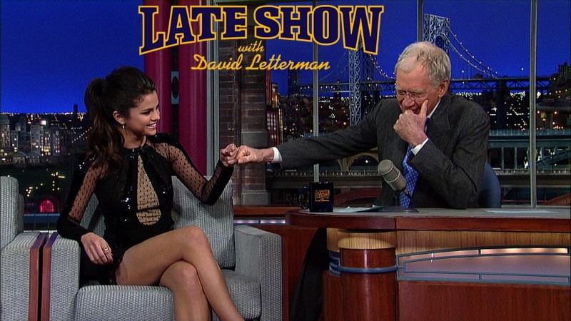 David Letterman and Selena Gomez share their common Justin Bieber bond.