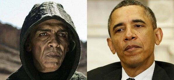 The character of Satan is played by actor Mehdi Ouzaani (HistoryChannel/Reuters)
