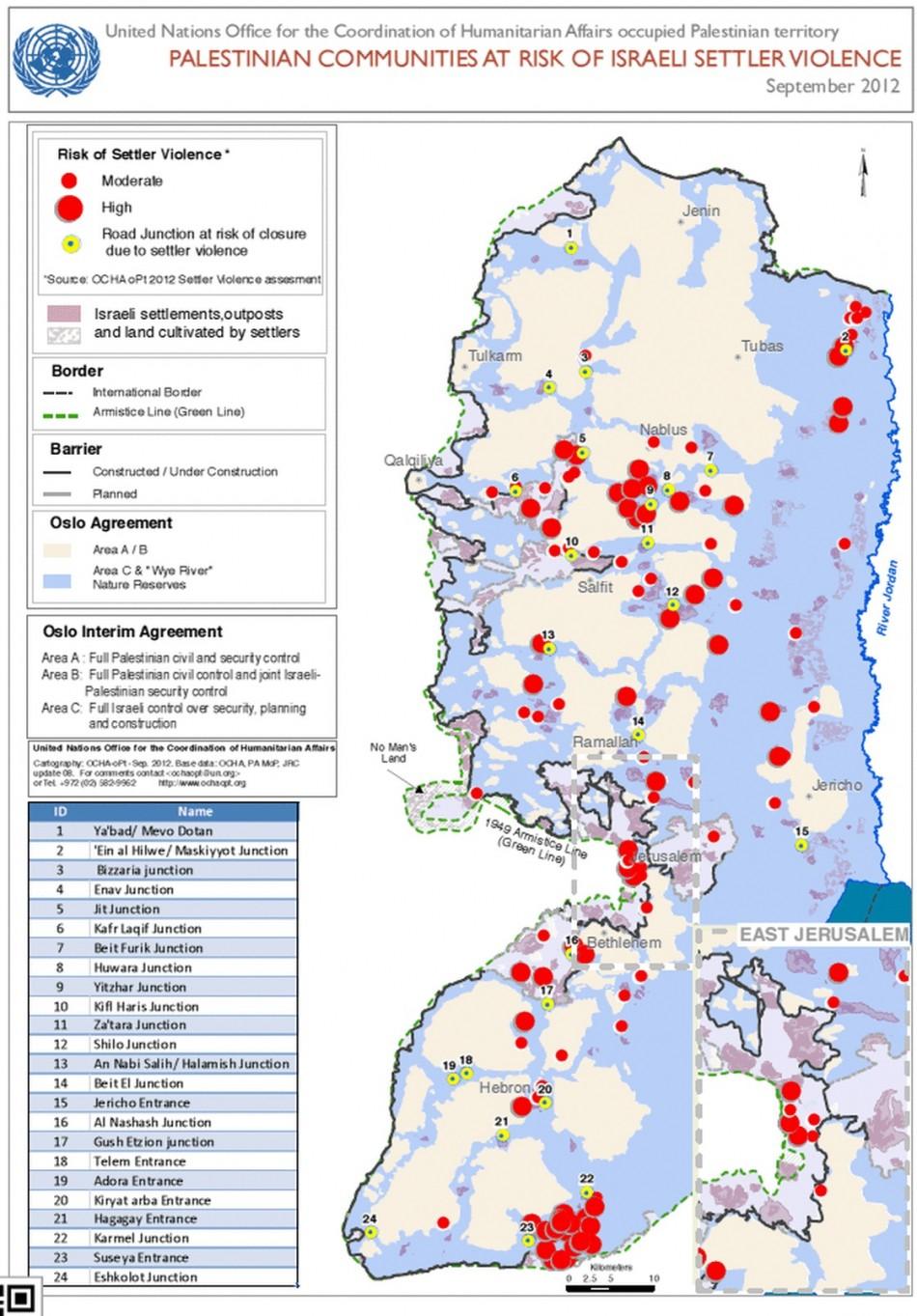 Palestinian communities at risk of Israeli settler violence (UN)