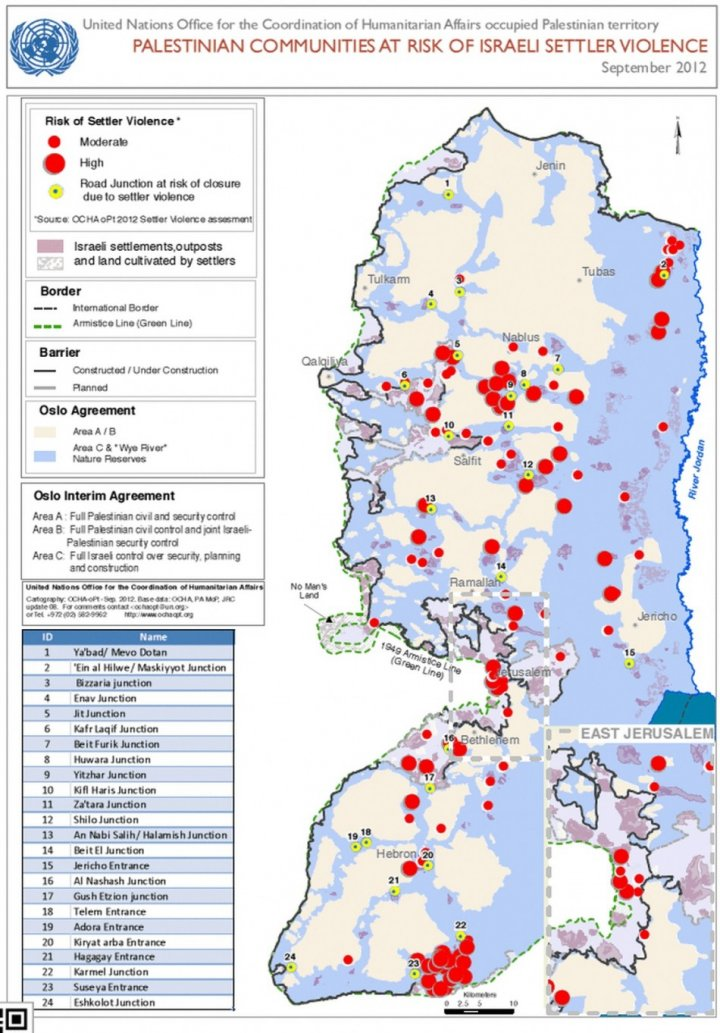 Palestinian communities at risk of Israeli settler violence (UN)