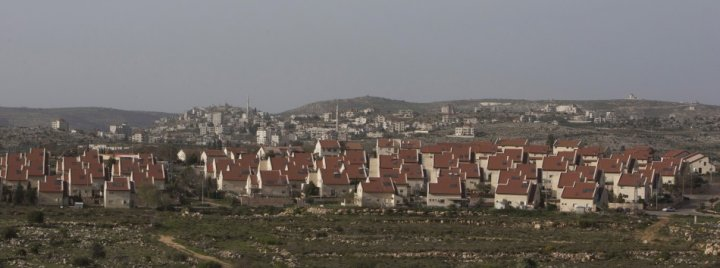 A general view of the West Bank Jewish settlement of Ofra, north of Ramallah
