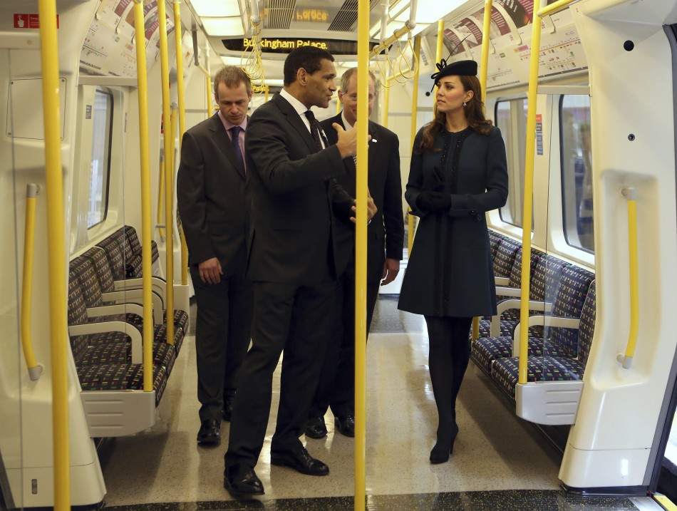 The Duchess of Cambridge boarded a special London tube with the destination