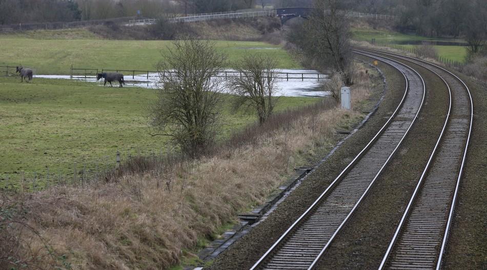 Rail crash in Somerset