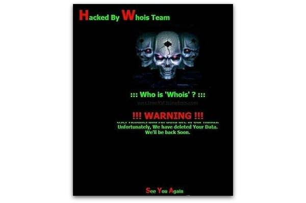 Whois Team attack on South Korea