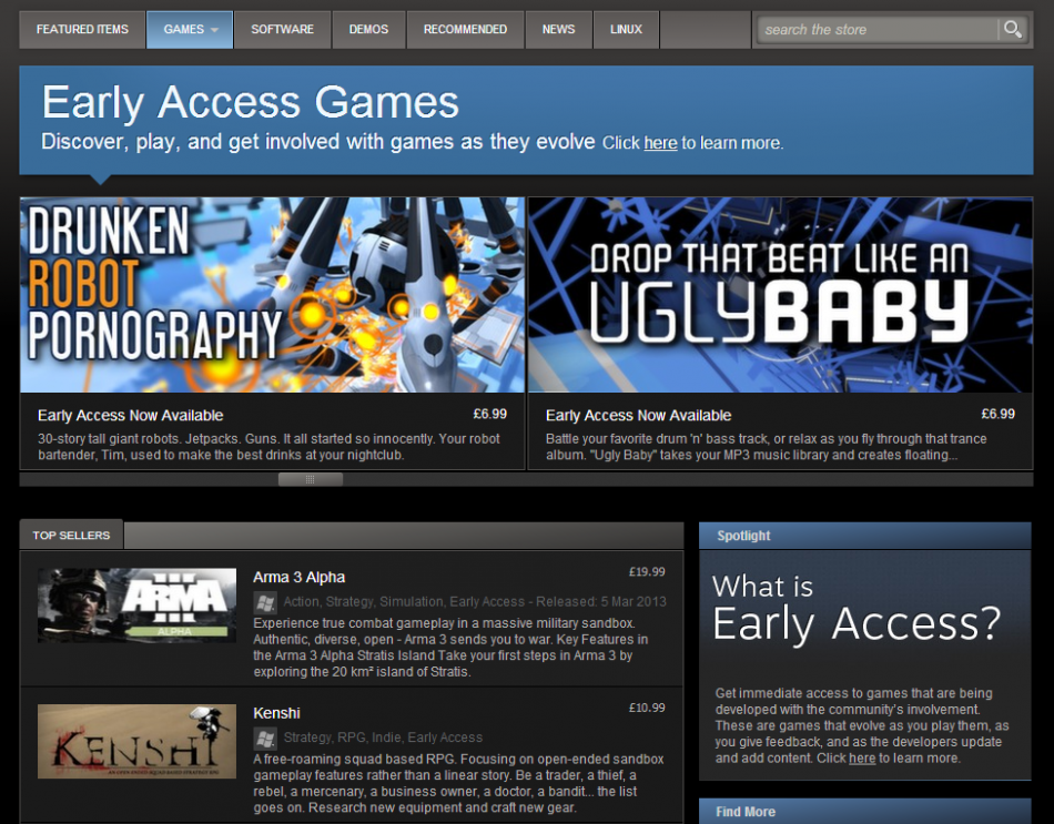 steam early access