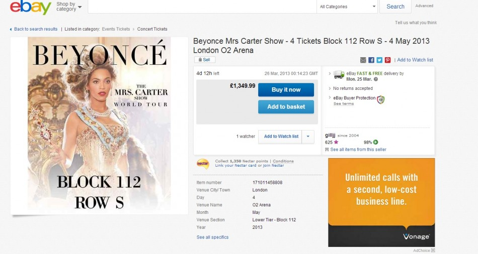 Mrs Carter Concert Tickets