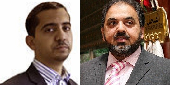 Mehdi Hasan (L) wrote the piece after Labour peer Lord Ahmed was suspended for making anti-Semitic remarks (Twitter/Reuters)