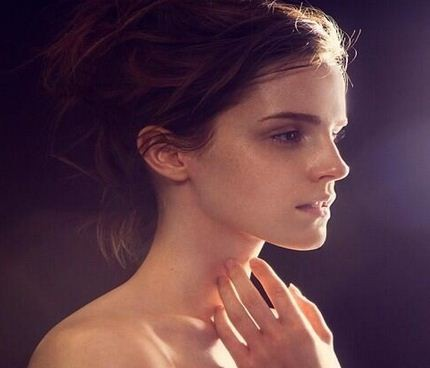 Emma Watson poses nude for James Houston's Natural Beauty 2013 Book