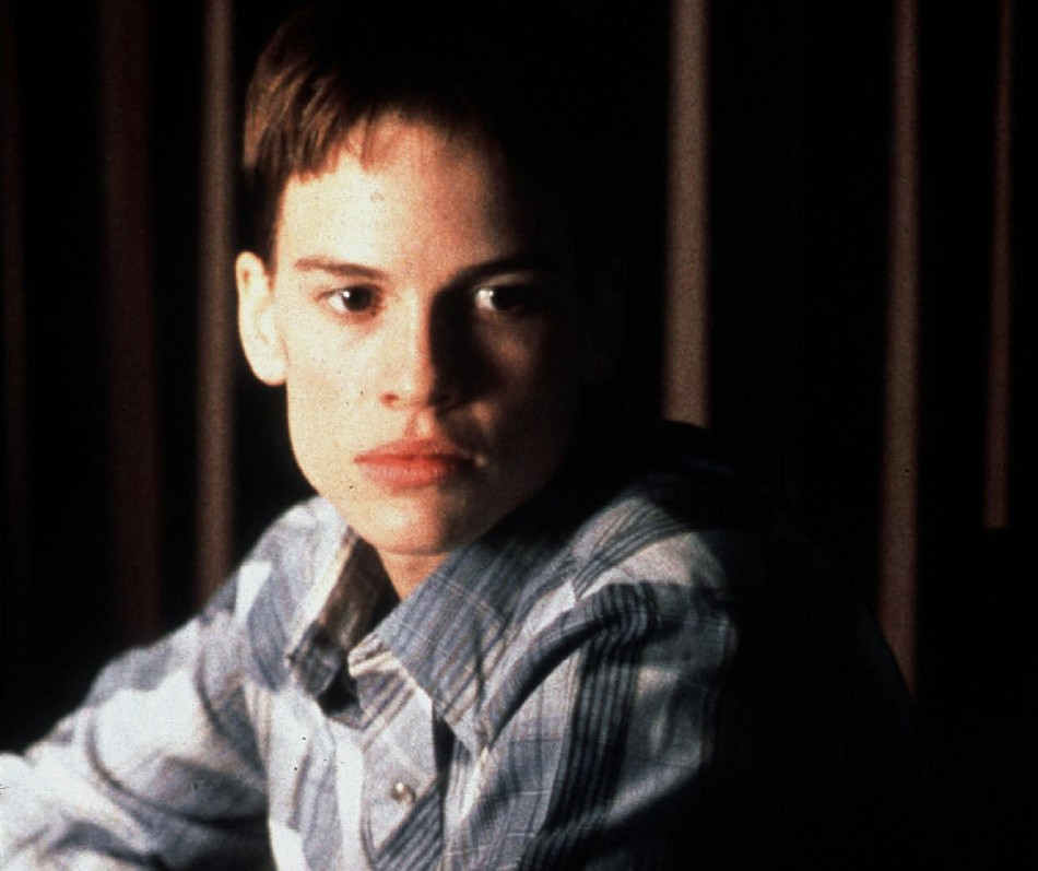 Hilary Swank portrayed Brandon Teena, a real-life case of young girl who passed as a boy in the 1999 film, Boys Don't Cry.