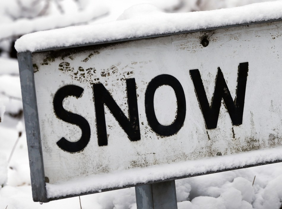 Snow coming to Britain