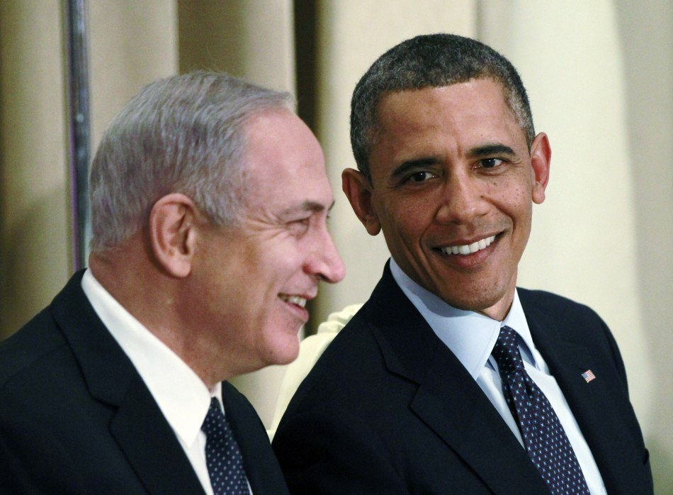 U.S. President Barack Obama is pictured with Israeli Prime Minister Benjamin Netanyahu