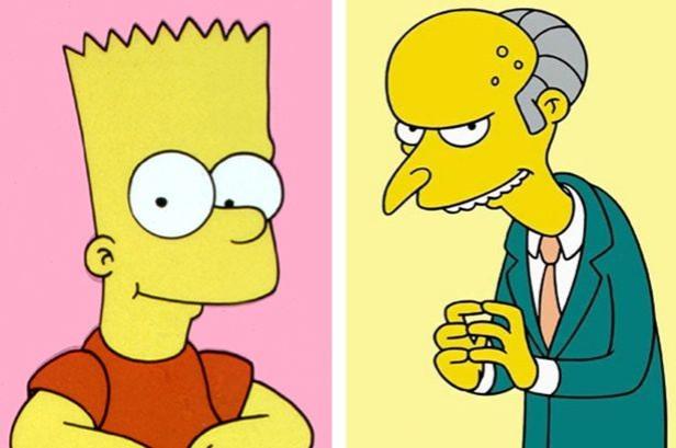Bart Simpson and Mr Burns
