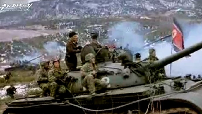 A four-minute video entitled A Short, Three-Day War, released by North Korea, shows a South Korean invasion fantasy. (Uriminzokkiri)