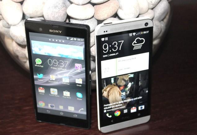 HTC One versus Xperia Z