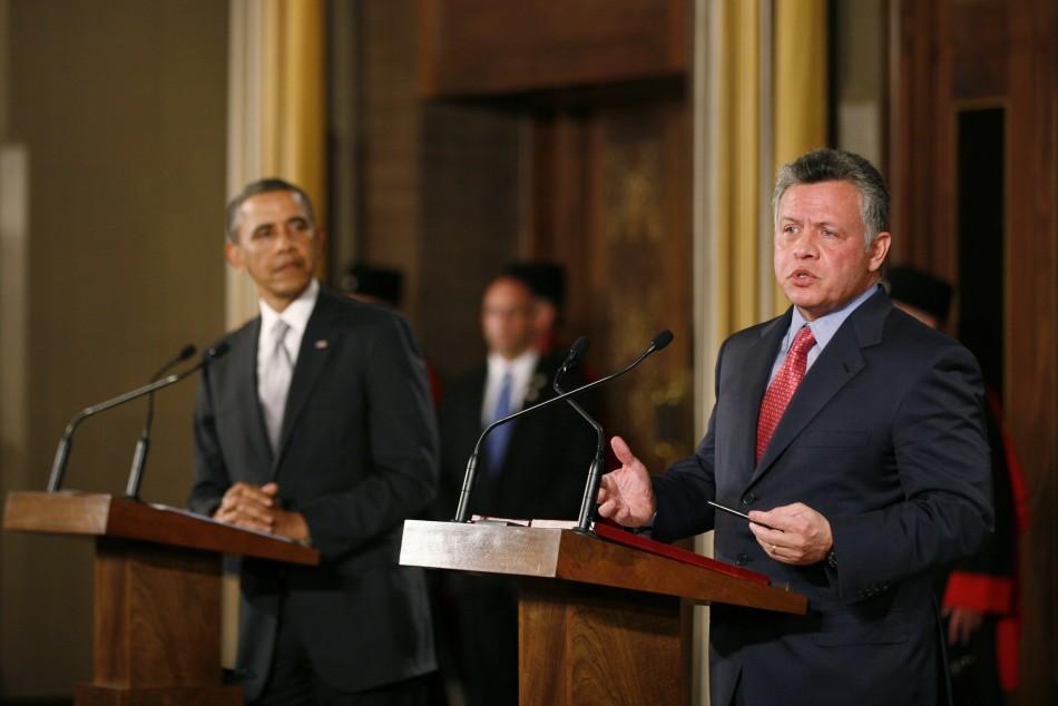 President Barack Obama and Jordan's King Abdullah II