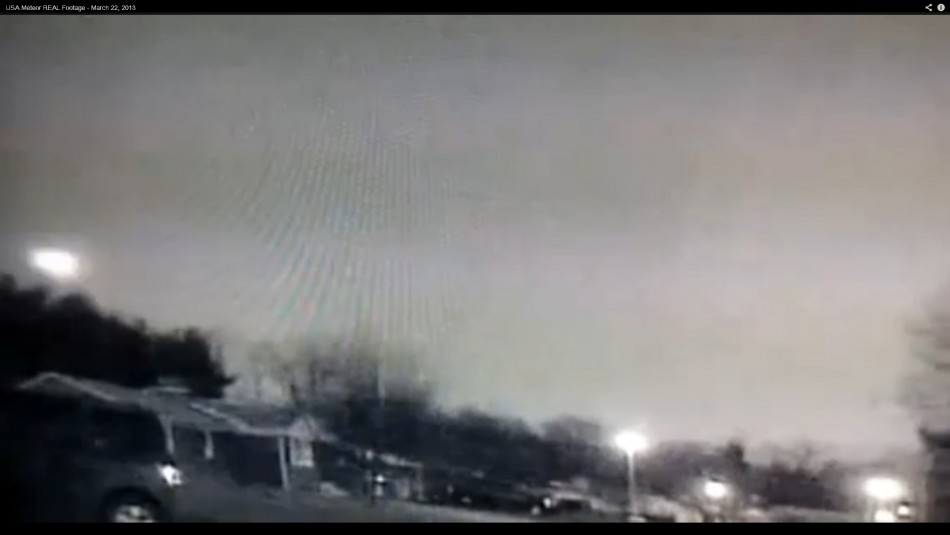 The fireball can be seen on the left of the picture above the trees.