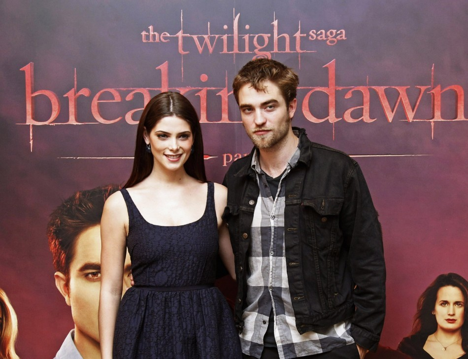 Ashley Greene who plays vampire Alice Cullen, with Twilight co-star Robert Pattinson
