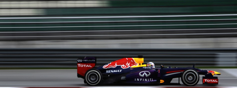 Red Bull's Sebastian Vettel during the qualifying session