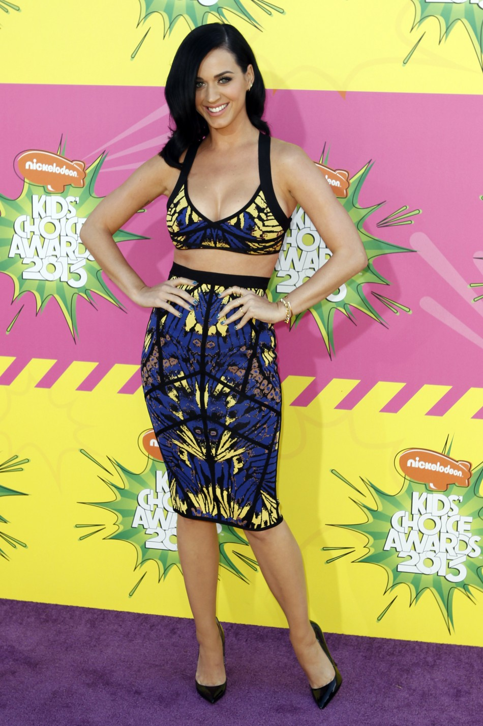 Singer Katy Perry arrives at the 2013 Kids Choice Awards