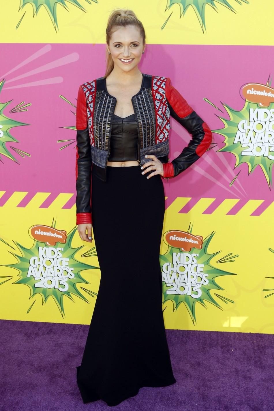 Actress Alyson Stoner arrives at the 2013 Kids Choice Awards