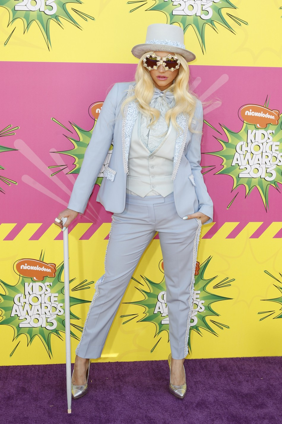 Singer Keha arrives at the 2013 Kids Choice Awards in Los Angeles