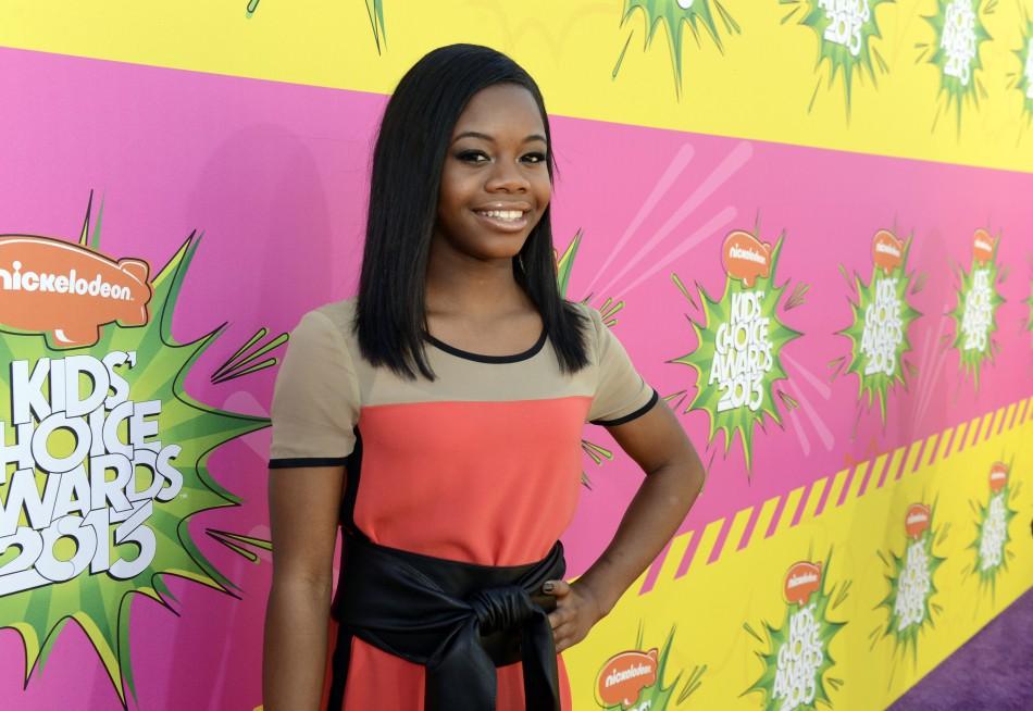 Olympic gold medallist gymnast Gabby Douglas attends the 2013 Kids Choice Awards