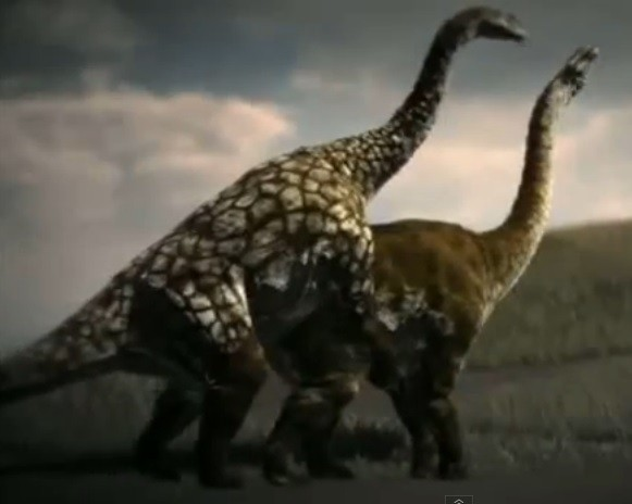 New research has disputed the theory that the prehistoric beasts all had sex the same way, with the male mounting the female from behind. (YouTube)